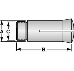 12 16C COL KIT 1/4-1-5/8 X8