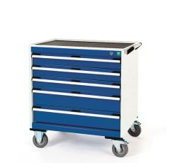 Deep Mobile Cabinets, Drawers 3x100, 2x150
