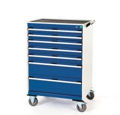 Deep Mobile Cabinets, Drawers 2x75, 3x100,1X150, 1x200