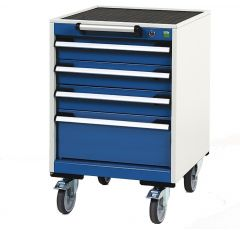 Deep Mobile Cabinets, Drawers 3X100,1X200